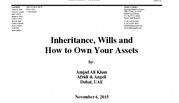 PPW Presentation on Inheritance Wills and How to Own Your Assets
